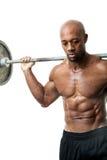Homme de muscle tenant le Barbell photos libres de droits