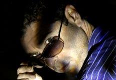 Homme de mystère Photo stock