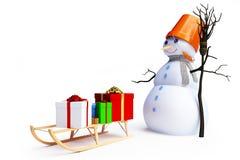 Homme de neige Image libre de droits