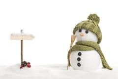 Homme de neige Photographie stock