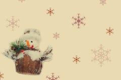 Homme de neige de Noël Images libres de droits