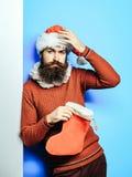 Homme de Noël avec le bas décoratif photo libre de droits