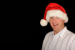 Homme de Noël heureux Photos libres de droits