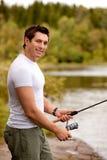 Homme de pêche Images stock