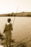Homme de pêche Photographie stock libre de droits