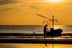 Homme de pêche Images libres de droits