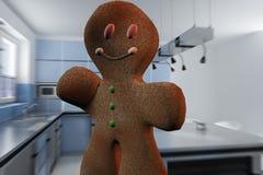 Homme de pain d'épice Photo libre de droits