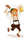 Homme de partie de bière Image libre de droits