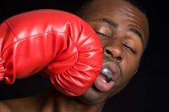 Homme de perforateur de boxe Photographie stock libre de droits