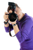 Homme de photographe Photos stock