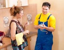 Homme de plombier Images stock