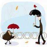 Homme de pluie Photos libres de droits