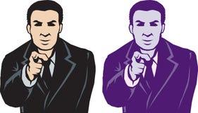 Homme de pointage stylisé Images stock
