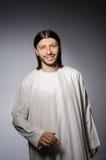 Homme de prêtre dans religieux image libre de droits