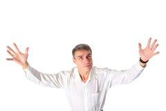 Homme de prière d'isolement Photographie stock libre de droits