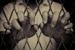 Homme de prison Photographie stock libre de droits