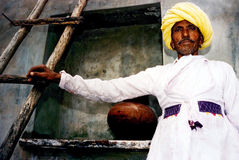 Homme de Rajasthani - Inde Photos stock