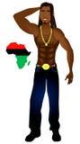 Homme de Rasta Afrocentric illustration stock