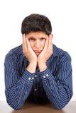 Homme de regard triste malheureux Images stock