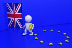 Homme de référendum d'UE Images stock