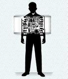 Homme de robot illustration de vecteur