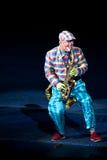 Homme de saxophone Images stock