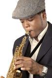 Homme de saxophone Image stock