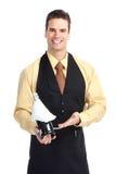 Homme de serveur Images stock