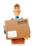 Homme de service de distribution avec le cadre Illustration de Vecteur