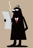 Homme de silhouette Images stock