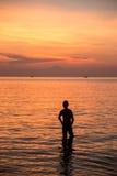 Homme de silhouette Photographie stock libre de droits