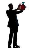 Homme de silhouette intégral hors de prier de gaz Image stock