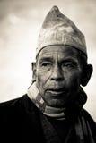 Homme de Sindhupalchowk, Népal Photographie stock