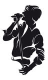 Homme de singin de vecteur, silhouette Photos libres de droits