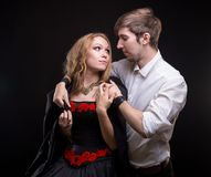Homme de soin et sa femme aimée Photo libre de droits