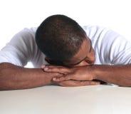 Homme de sommeil Images libres de droits