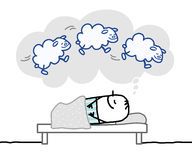 Homme de sommeil et rêve gentil Photographie stock