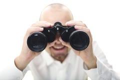 Homme de sourire avec binoche Photo libre de droits