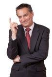 Homme de sourire d'affaires se dirigeant vers le haut Photographie stock libre de droits