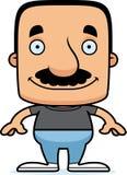 homme de sourire de bande dessinée illustration stock