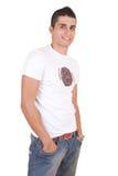Homme de sourire de jeune mode photographie stock