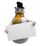 Homme de sourire de neige Images libres de droits