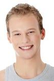 Homme de sourire heureux de verticale Photographie stock libre de droits