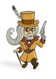 Homme de Steampunk Photographie stock