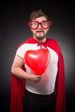Homme de superhéros dans l'amour Images libres de droits
