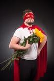 Homme de superhéros dans l'amour Photos stock