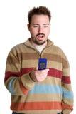 Homme de téléphone d'appareil-photo Images stock