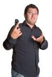 Homme de téléphone portable Image stock