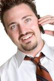 Homme de téléphone portable Photographie stock