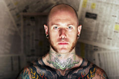 Homme de tatouage Photos stock